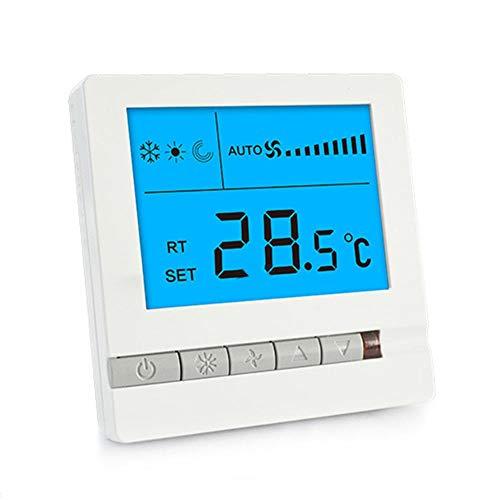 Ahorro de Energ/ía Termostato Inteligente 2 Pipe Controlador WiFi de 2//4 Tubos Pantalla T/áctil LCD Para Aire Acondicionado Central Almacenamiento M/ás Preciso y Flexible