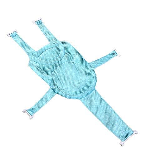 BABYCOW Red Soporte Ajustable Asiento baño bebé recién Nacido, cómodo Asiento Hamaca bañera bebé (Azul)
