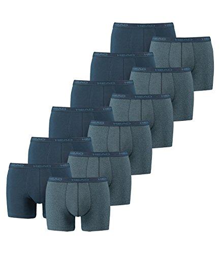 Head–Herren-Boxershort Basic, 12er-Pack, Herren, Heaven blue, XL = Gr. 7 = 12 Stück