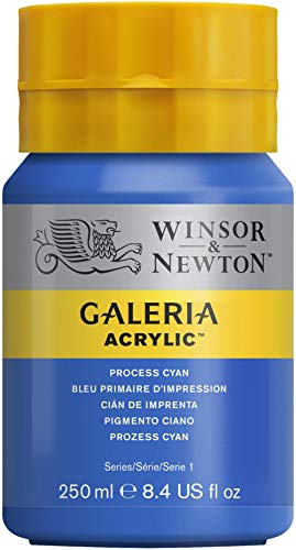 W&N : Galeria : Acrylic Paint : 250ml : Process Cyan