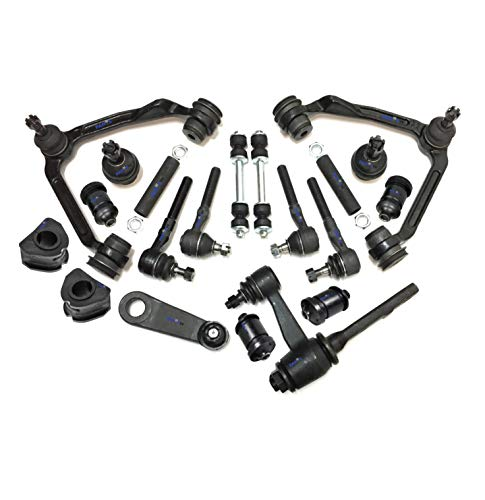 PartsW 20 Pc Complete Suspension Kit for Ford F-150 F-250 Expedition Upper Control Arm Idler Arm with 3.43 Inch Bolt Pattern Tie Rod Ends Adjusting Sleeves Sway Bar Frame Bushing 30mm (1.18 inch)