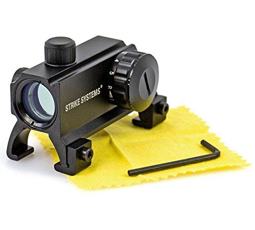 Nick and Ben Ziel-Fernrohr 1 x 40 Metall Visier Red Dot für Luftgewehr Softair oder Armbrust Montage auf 20 mm Schiene