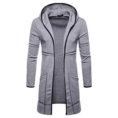 SHANGYI Damesjas heren winterdik warm gebreid vest met capuchon heren gestreepte voering lange mantel heren