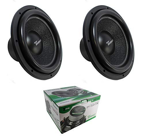 2 x 12 Subwoofer 3200W 4 Ohm DVC Pro Car Audio Bass Timpano TPT-TSUB12 D4