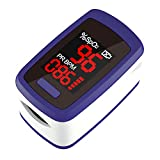 Pulse Oximeter Fingertip, Blood Oxygen Saturation Monitor, Heart Rate and SpO2 Levels, Large LED Display - Portable Oximeter with Lanyard