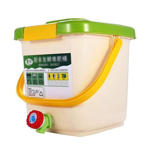 XUANLAN 12L Compost Papelera de Reciclaje compostador aireado Compost Bin PP orgánico Hecho en casa Bote de Basura del Cubo del jardín de Cocina Alimentación Papeleras