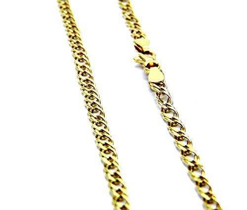 Collana Oro Giallo 18kt (750) Catena Rombo Cm 50 Uomo Donna Unisex