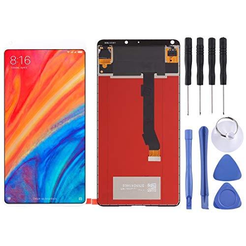 TKTK reparación de Piezas de teléfono Asamblea Completa de Pantalla LCD y digitalizador for Xiaomi MI Mix 2S (Color : Blanco)