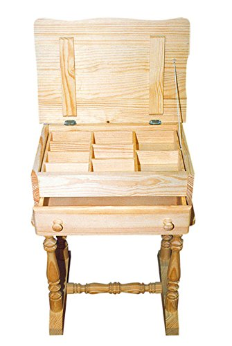 Mueble Costurero. En madera de pino macizo. En crudo, para p