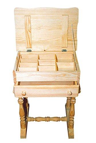 Mueble Costurero. En madera de pino macizo. En crudo,...