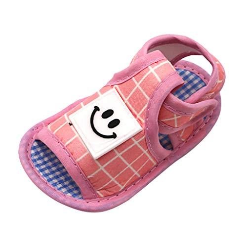 Jaysis Sandalen für Kinder Sommer Unisex Baby Gitter Lächelndes Gesicht Weiche Sohle Schuhe Lauflernschuhe Krabbelschuhe Festliche...