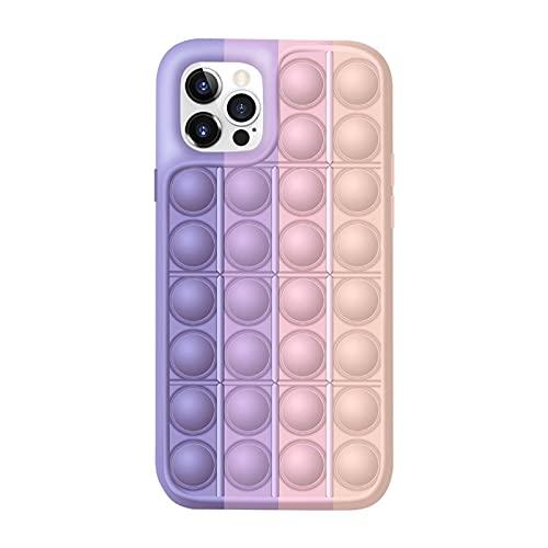 WusyStore Push Pop It Fidget Toys Handyhülle, Blase, sensorisches Fidget-Spielzeug, Silikon-Handyhülle für iPhone, vermeiden Sie langweilige lustige Entlastungswerkzeuge (für iPhone7/8,6#)