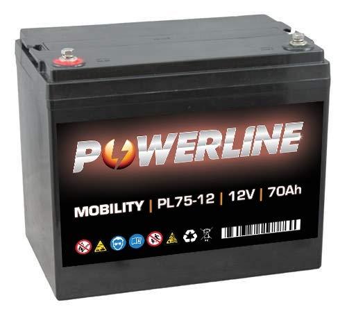 PL75-12 Powerline Mobility Accu 12V 70Ah