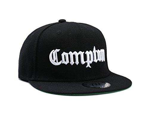 Underground Kulture Casquettes de Baseball Réglable Noir Compton (Black Snapback)
