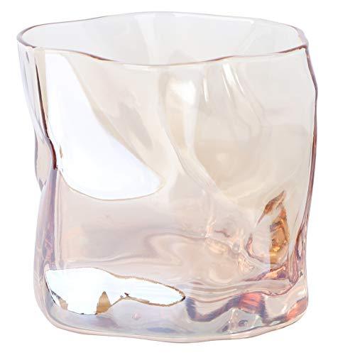 PRETYZOOM Whisky Gläser Kristall Whisky Becher Twisted Felsen Gläser Cocktail Becher Trinkbecher Barware Glaswaren für Malz Bourbon Schnaps Cocktail Getränke 301-400Ml