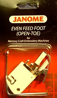 Janome Even Feed Foot (Open Toe) Memory Craft Embroidery Machines