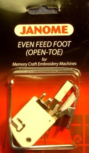 Janome Even Feed Foot Open Toe Memory Craft Embroidery Machines