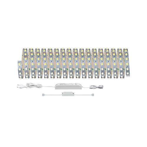 Paulmann 70565 LED Stripe SmartHome MaxLED Tunable White Basisset incl. 1x47 Watt dimmbar Lichtband Silber Lichtstreifen Kunststoff LED Band 3000 K