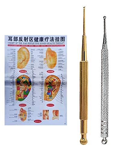 Akupunkturnadeln zur Schmerzlinderung Akupunkturstift Ohrreflexzonenmassage Akupunktsonde (Dien Chan) 2er-Set