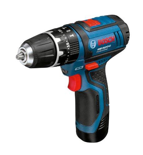 Bosch GSB 10,8-2-LI - Taladro (Ión de litio, 10.8 V, 189 mm, 175 mm, 1 kg, Negro, Azul)