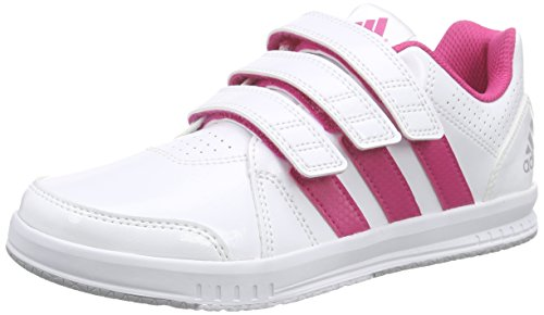 adidas Performance LK Trainer 7 CF, Unisex-Kinder Sneakers, Weiß (Ftwr White/Eqt Pink S16/Mid Grey S14), 35 EU (2.5 UK)