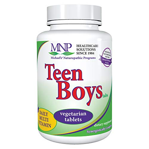 Michael's Naturopathic Programs Teen Boys Tablets - 90 Vegetarian Tablets - Daily Multivitamin Supplement with B Complex Vitamins & Male Herbal Blend - Kosher - 45 Servings