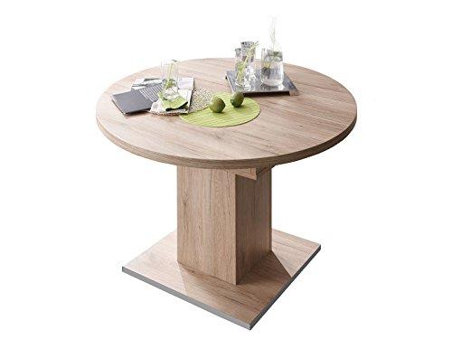 möbelando Esszimmertisch Tisch Esstisch Küchentisch Speisentisch Holztisch Judd II Sanremo hell