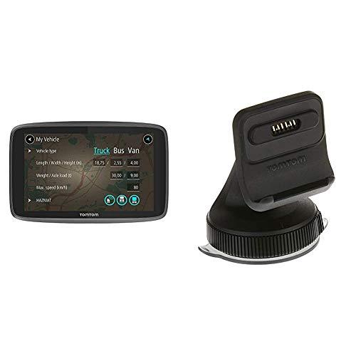 TomTom LKW Navigationsgerät GO Professional 620 (6 Zoll) & Aktiv-Magnethalterung und Ladegerät, geeignet für TomTom Navigationsgeräte mit 5 und 6 Zoll Display, z.B. GO, GO Essential, GO Premium