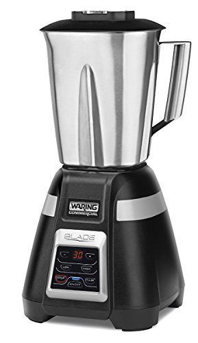 Waring Commercial BB340 Blade 1 HP Blender, 2-Speed Key Pad with Pulse and 99 Second Countdown Timer , 48 oz Stainless Steel Container, 120V, 5-15 Phase Plug