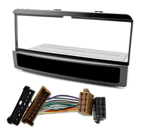 Preisvergleich Produktbild Watermark WM-6145S1 Radioblende Autoradio Einbau Set für Ford Focus Fiesta Escort Cougar Puma Mondeo Transit mit Ablagefach ISO Adapterkabel