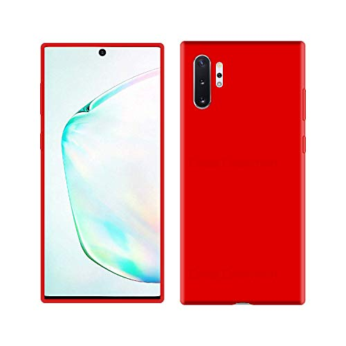 Case Creation Luxurious OG Series for Samsung Note 10+ Case Cover,Anti-Dirty Slim Case Frosted Matte Cute Candy TPU Raised Bezel (Splash of Color) Back Cover for Samsung Galaxy Note10 -Wine Red