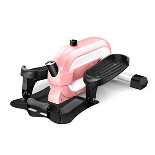 ZIEO Paso a Paso Casa Aparatos De Ejercicios Paso A Paso Pequeño Mini Espacio Interior Andador Regulable Steppers (Color : Pink, Size : One Size)