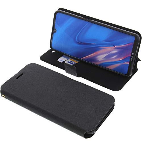 foto-kontor Tasche für TP-Link Neffos C9 Max Book Style schwarz Schutz Hülle Buch