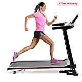 JULYFOX Home Folding Treadmill Running Machine, Quiet 2.0HP Compact Exercise Equipment Walking Jogging Machine W/Safety Key Heart Rate Monitor Phone Cup Holder 110KG Heavy Duty For Home
