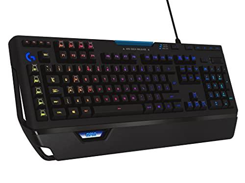 Logitech G910 Orion Spectrum Mechanische Gaming-Tastatur, RGB-Beleuchtung, Taktile Romer-G Switches, 9 Programmierbare G-Tasten, Anti-Ghosting, ARX-Zweitbildschirm Feature, Englisches QWERTY Layout