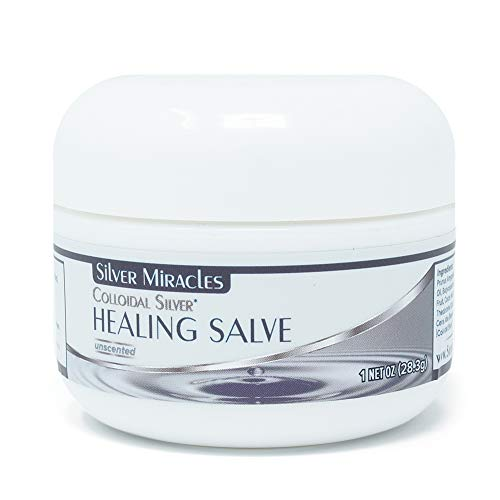 Silver Miracles Colloidal Silver Healing Salve - 1 oz