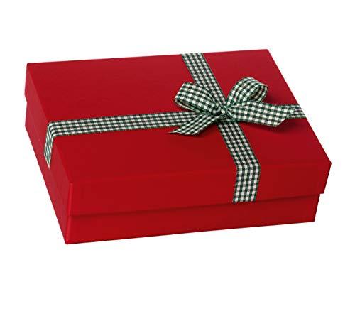 Rössler 1348319000 - doos met strik, grootte: 19.5 x 26.5 x 8 cm, rood
