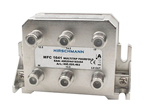 Hirschmann MFC 1641 - Cable Mezclador metálico para separadores o interruptores (Metálico, Tipo F, 91 mm, 40 mm, 61 mm, 180 g)