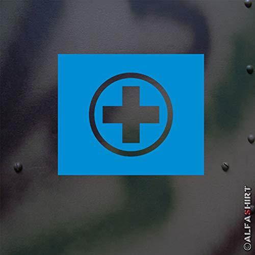 * lackiersc hablonen autocollants – sanität Plaque d'immatriculation Sanka Croix tactique signe Unité véhicule militaire Kübel Chariot Moto Phu R75 ks750 lackiersc hablone autocollants (5 x 5 cm) # A389