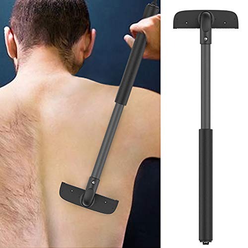Rückenrasierer Rückenhaarentferner, Gebogen Rückenrasierer mit Langem Griff Verstellbarer, Back Shaver Nass Oder Trocken