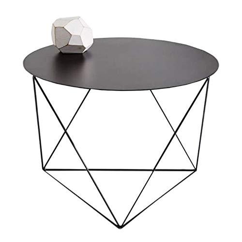 LQ Side End Table nordique Métal Café Snack Chevet Art Déco Meubles Tables Salle fin Triangle Support Conception longue durée de vie robuste Table d'appoint Fer tables basses (Color : Black)