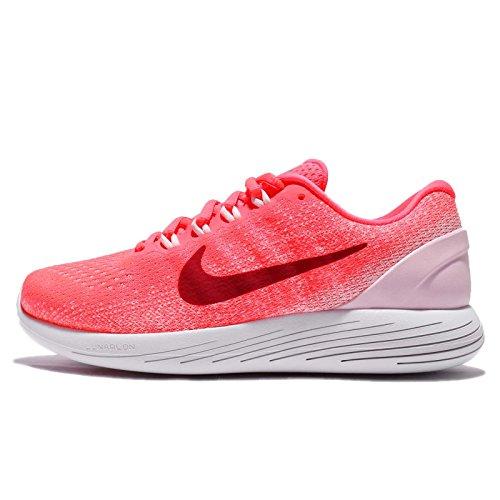 Nike Women's WMNS Lunarglide 9 Running Shoes, Orange (Hot Punch/Arctic Pink/White/Noble Red), 8 UK 42.5 EU