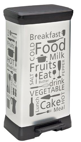 CURVER 205873 - Producto de almacenaje para la Cocina, 50L, Color Plateado