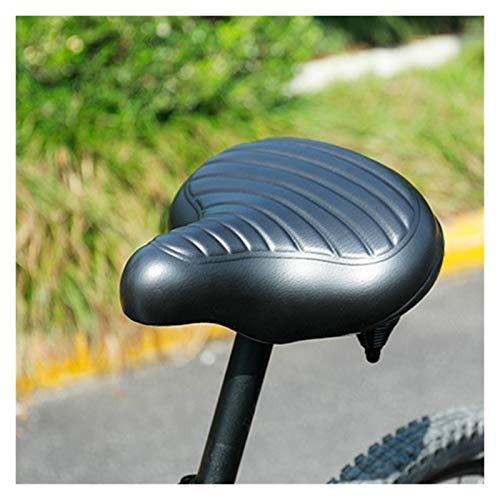 QWXZ Asiento de Bicicleta Sillín de Bicicleta Sillón de Trabajo Pesado MTB Monte Bike Gel de Silicona Cojín de Espuma Amortiguador Absorción Suave y Transpirable (Color : Black)