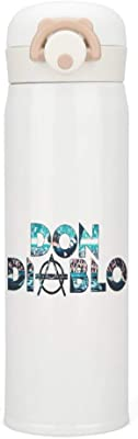 Don Diablo 1 魔法瓶 水筒 ボトル ワンタッチ オープン タイプ 真空断熱 直飲み 保温保冷 ステンレスボトル 大人 子供 男女兼用 遠足 スポーツ水筒 釣り 登山 自転車