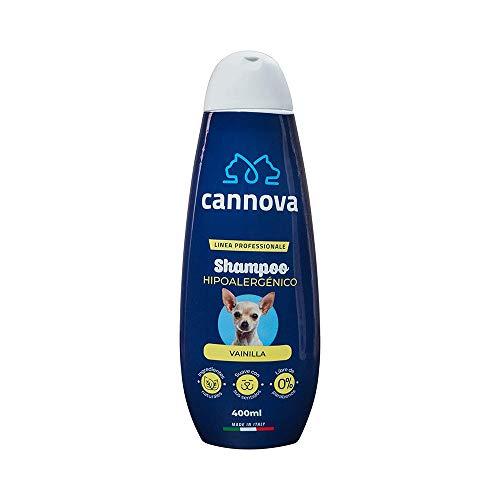 Cannova Shampoo Hipoalergénico Libre de parabenos. Linea Profesional de Origen Italiano para Perros con Aroma a Lavanda 400 Ml. | Shampoo para perros alérgicos. | Reduce la caída del pelo. | Suaviza el pelaje.