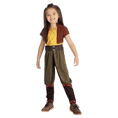 Rubies Disfraz oficial de Disney Raya de lujo, Raya and the Last Dragon Girls Kids Fancy Dress Talla Grande Edad 7-8 aos