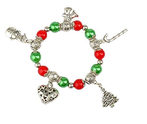 Fengteng Retro Schmuck Santa Claus Weihnachtsbaum Das Glocke Krüppel Stock Wulstiges Armband