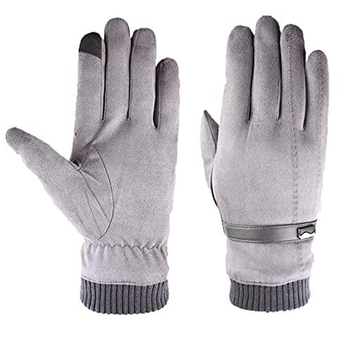 Liadance Winter Strickmütze, Winter Schal Und Touch-Screen-Handschuhe Set Strickmütze Nackenwärmer Für Männer 5pcs