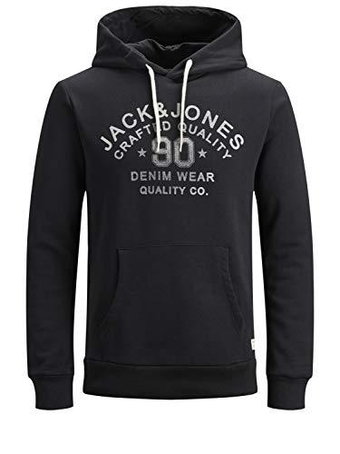 Jack & Jones Jjejeans Sweat Hood Noos Capucha, Negro...